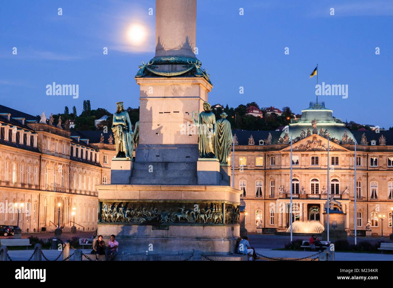 Schlossplatz Stuttgart, Baden-Württemberg, Deutschland, Europa - Stock Image