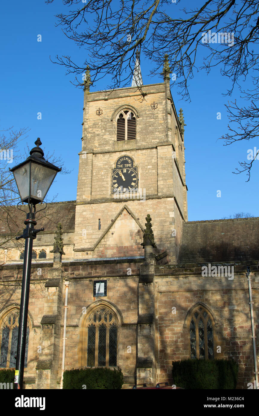 The Parish Church of St. John the Baptist,Knaresborough,North Yorkshire,England. - Stock Image