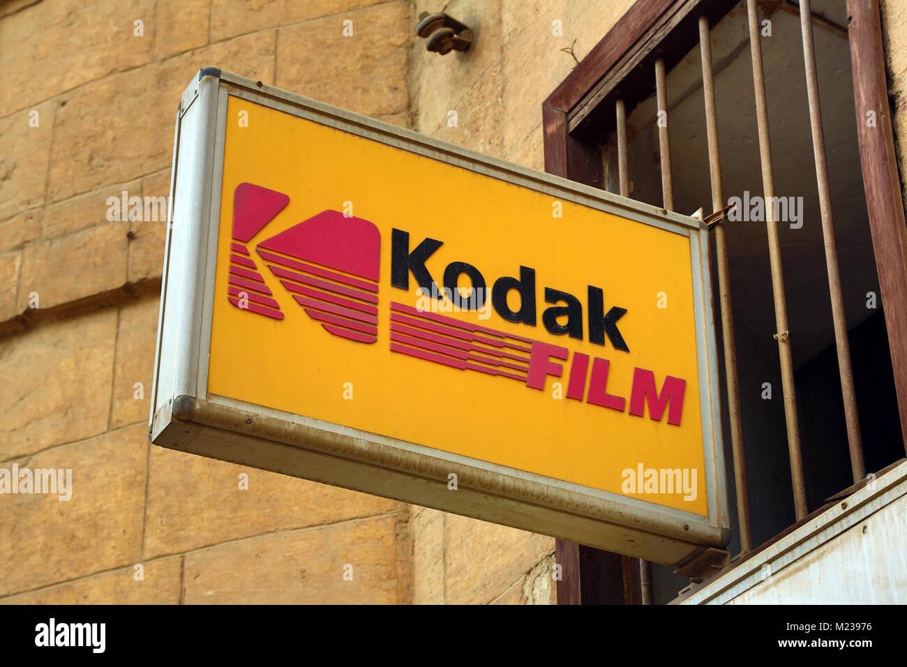 kodak film advertising egypt sign cairo alamy