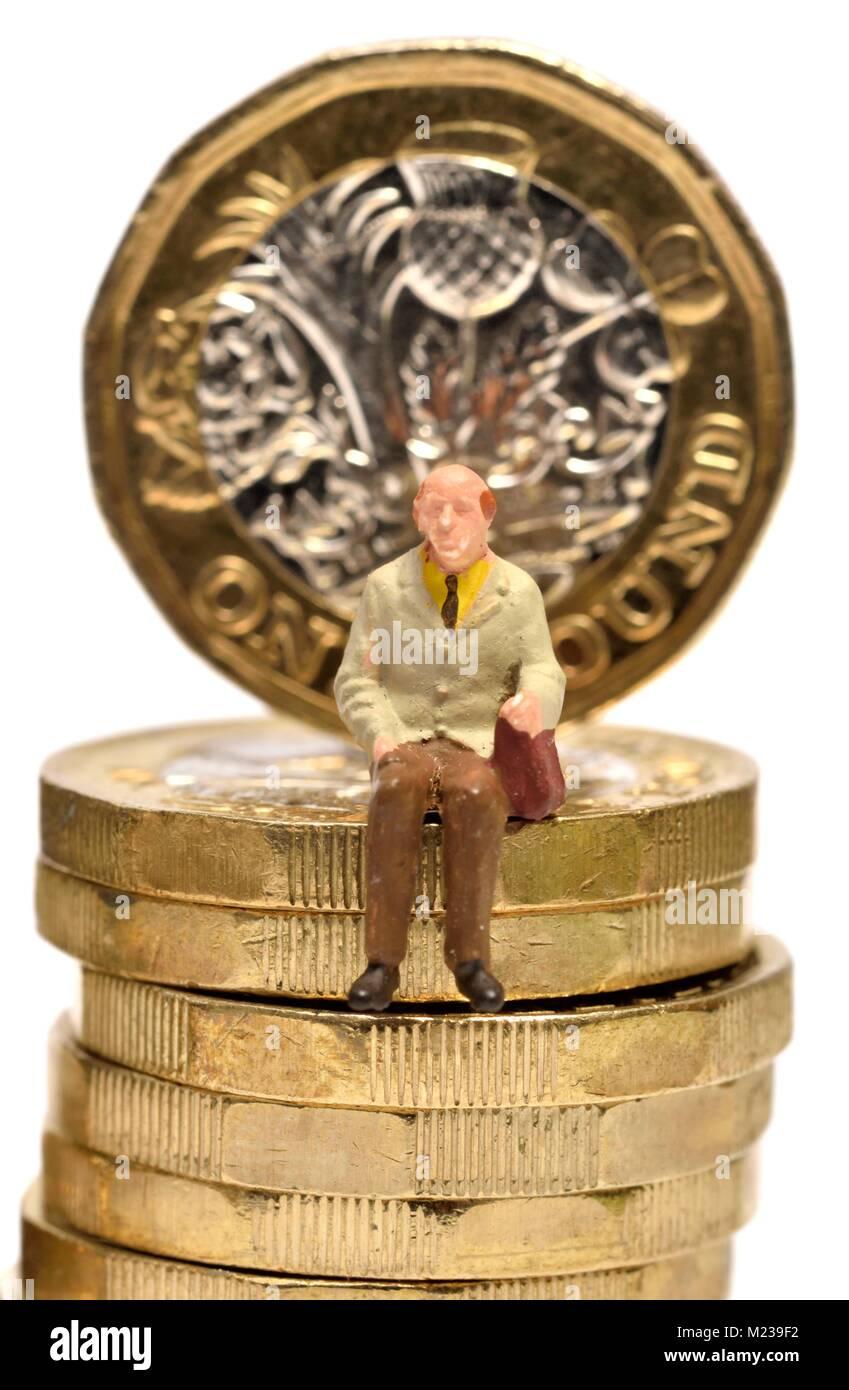 Pension pensioner retirement state pension concept Stock Photo