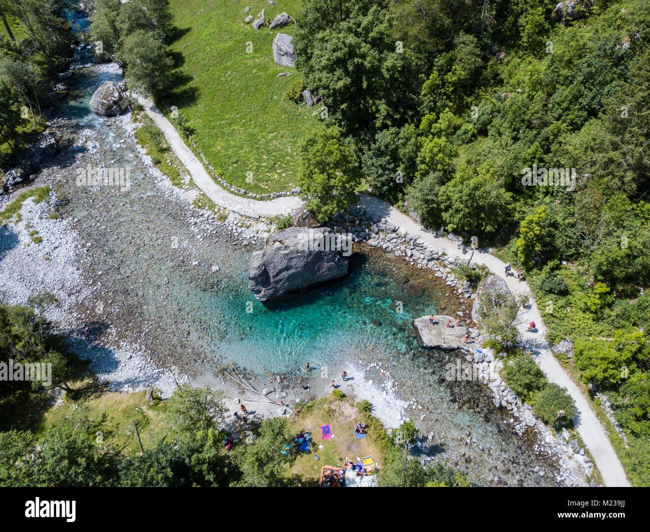 Aerial View Of The Giant Rock Called The Bidet Della Contessa In