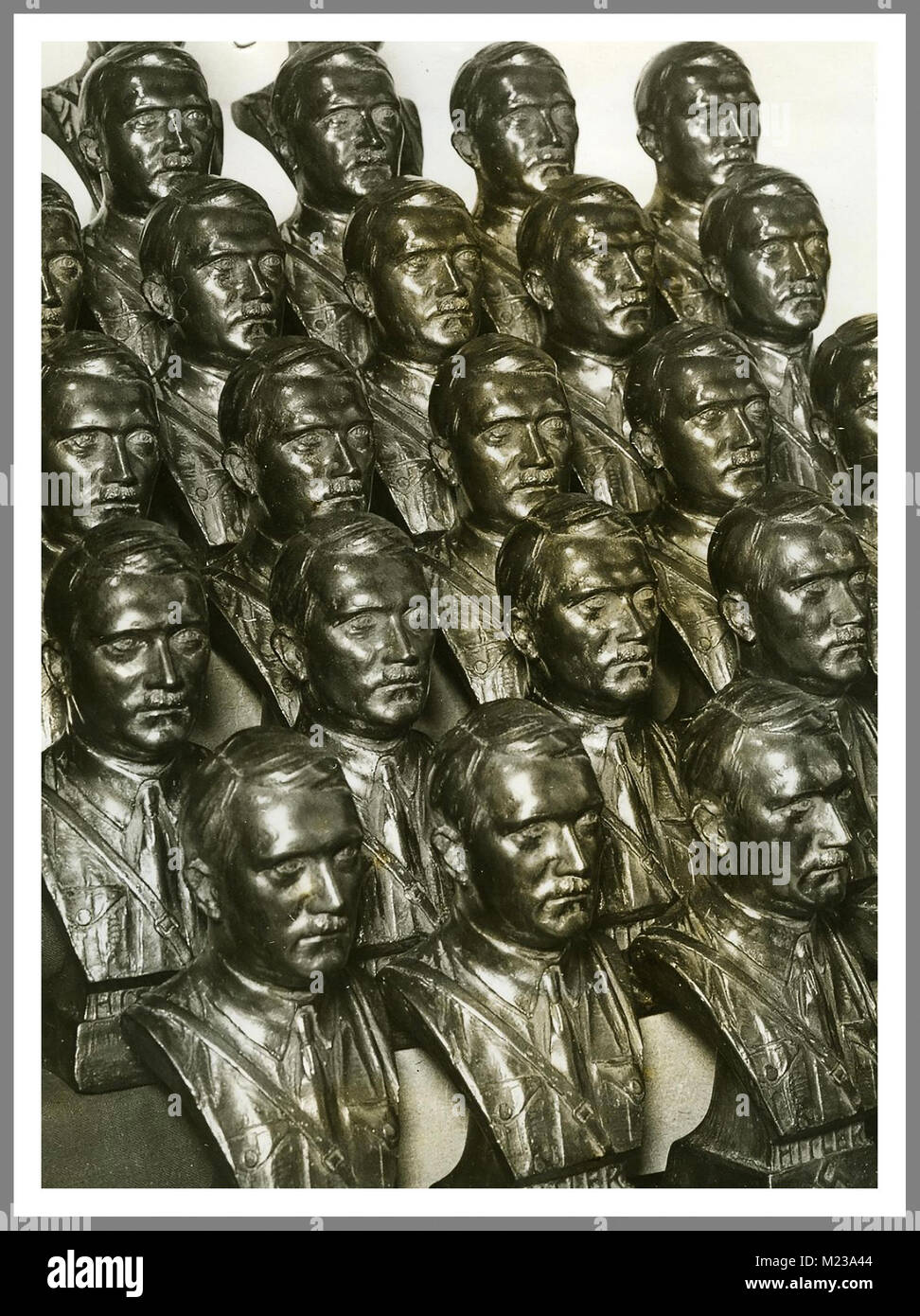 1930's Busts of Adolf Hitler produced to be placed in Nazi Germany official buildings and offices - Stock Image