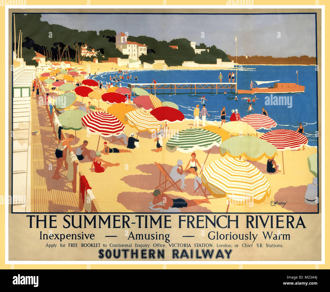 Île-de-France France French Vintage Travel Advertisement Art Poster Print