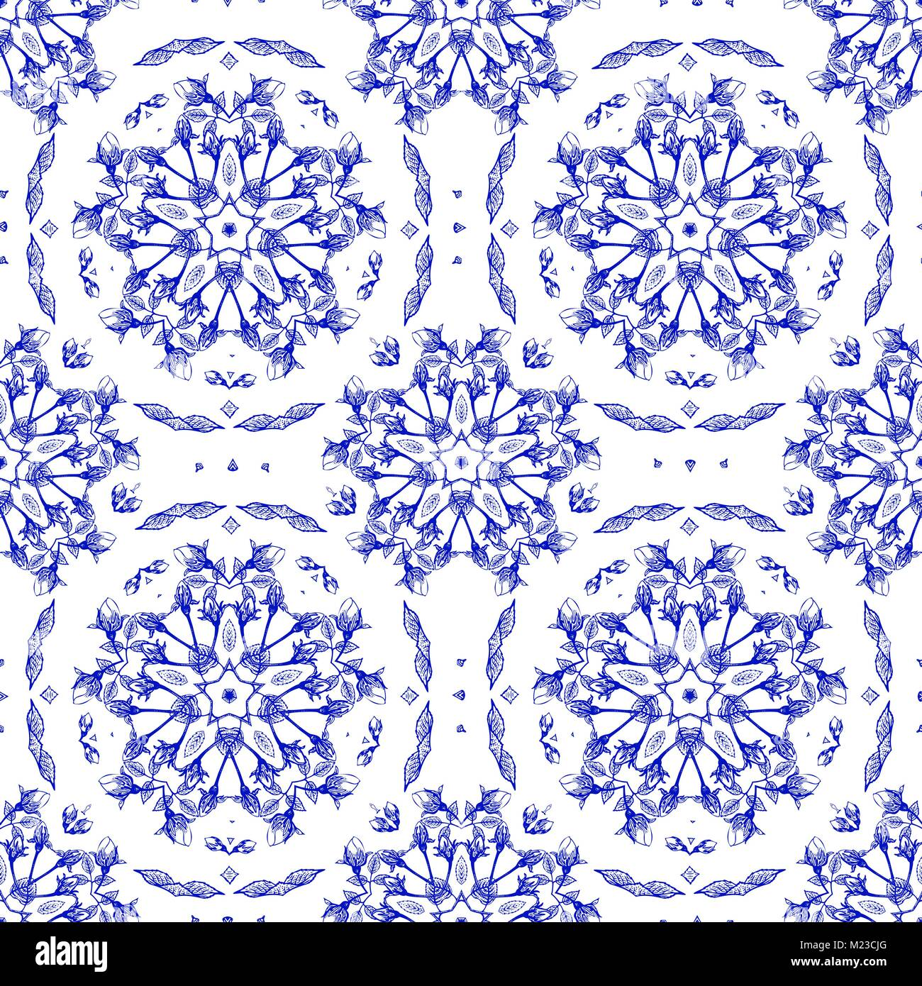 Vector Vintage Floral Ornate Seamless Pattern Luxury Floral Stock