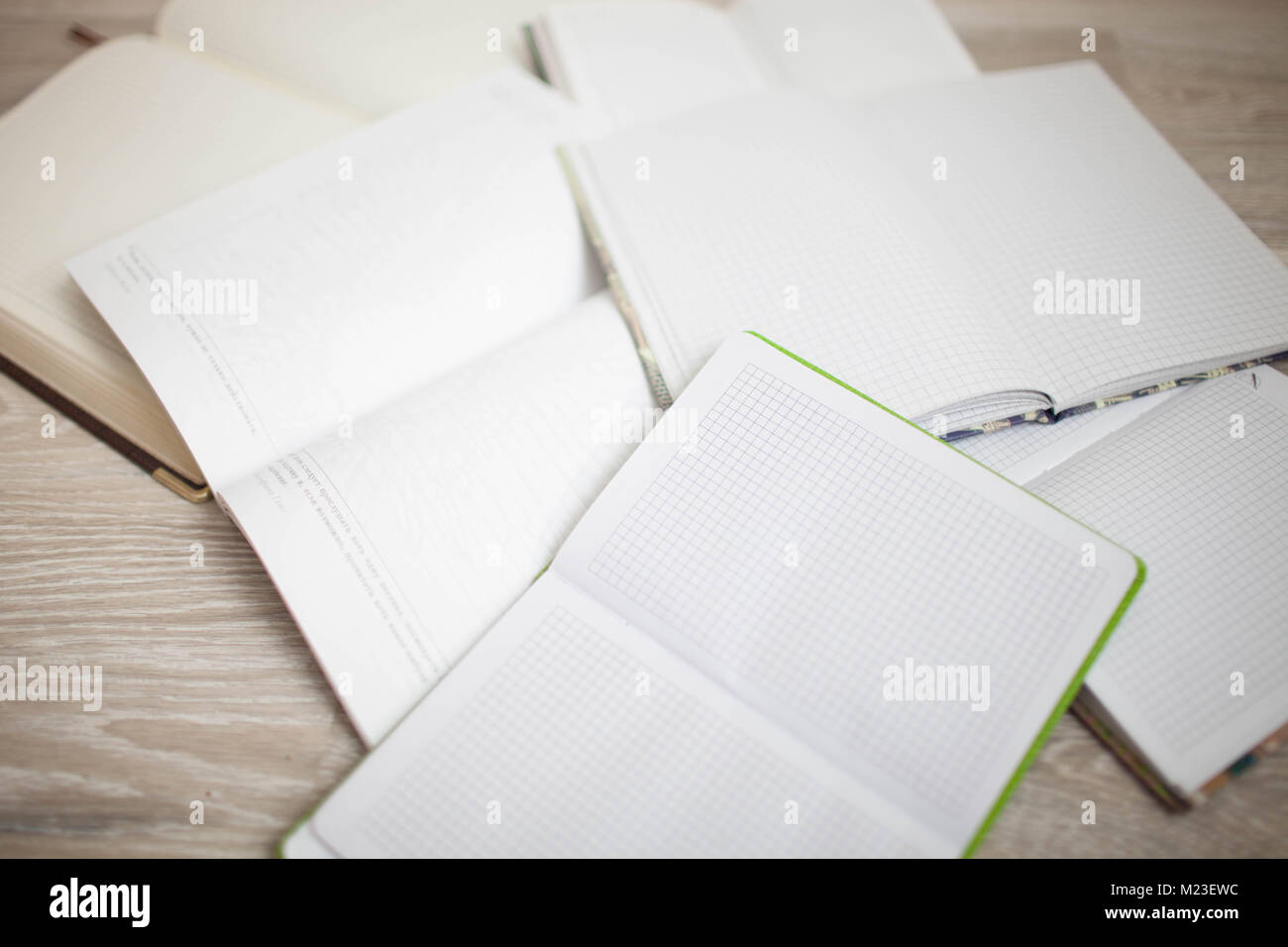 A large number of diaries and notebooks in the clear. - Stock Image
