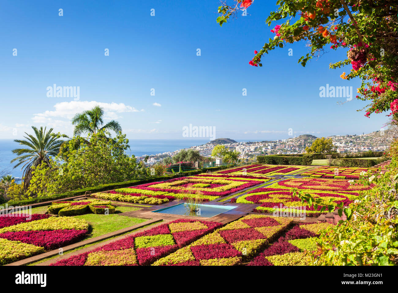 MADEIRA PORTUGAL MADEIRA Botanical gardens FUNCHAL BOTANICAL GARDENS Jardim Botanico above the capital city of funchal, - Stock Image