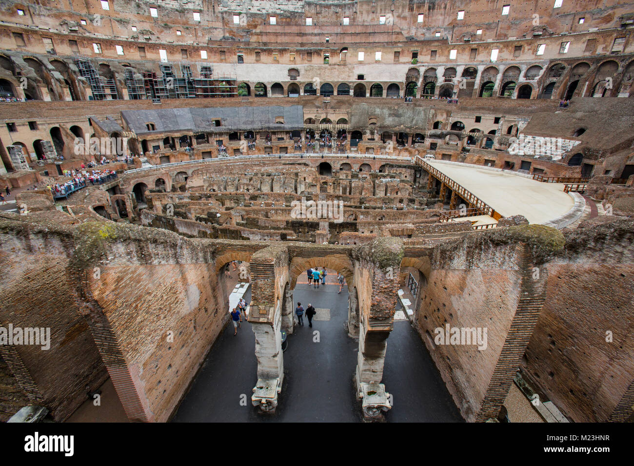 Hypogeum of the Colosseum in Rome, Italy Stock Photo - Alamy