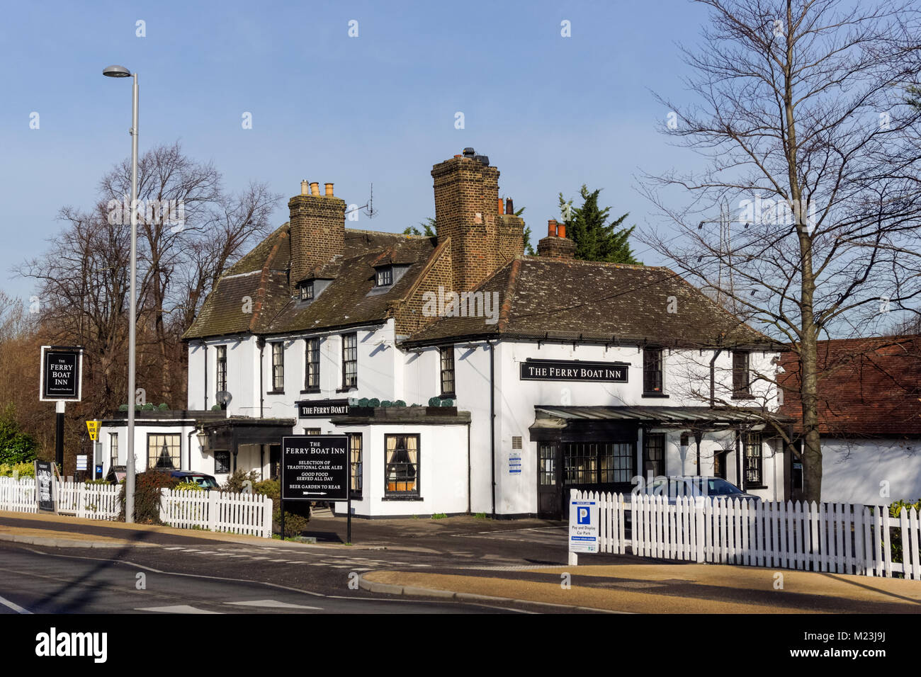 Ferry Boat Inn pub on Ferry Lane in Tottenham in London, England United Kingdom UK - Stock Image