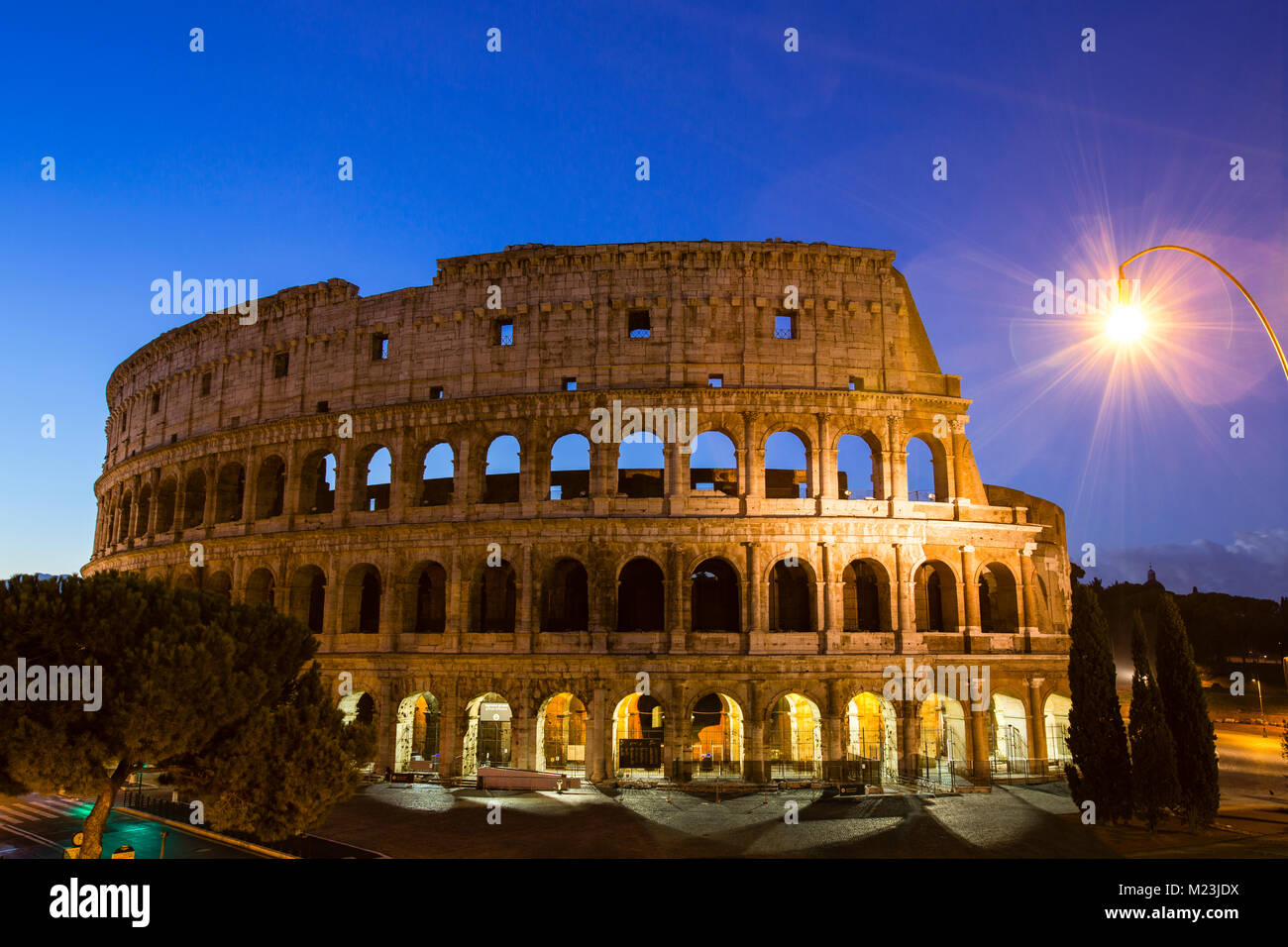 Colosseum at twilight, Rome, Italy - Stock Image