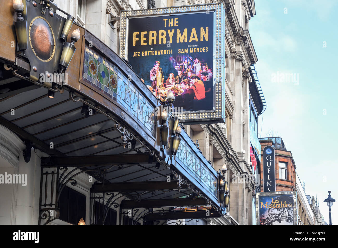 The Ferryman at the Gielgud Theatre London,UK. - Stock Image