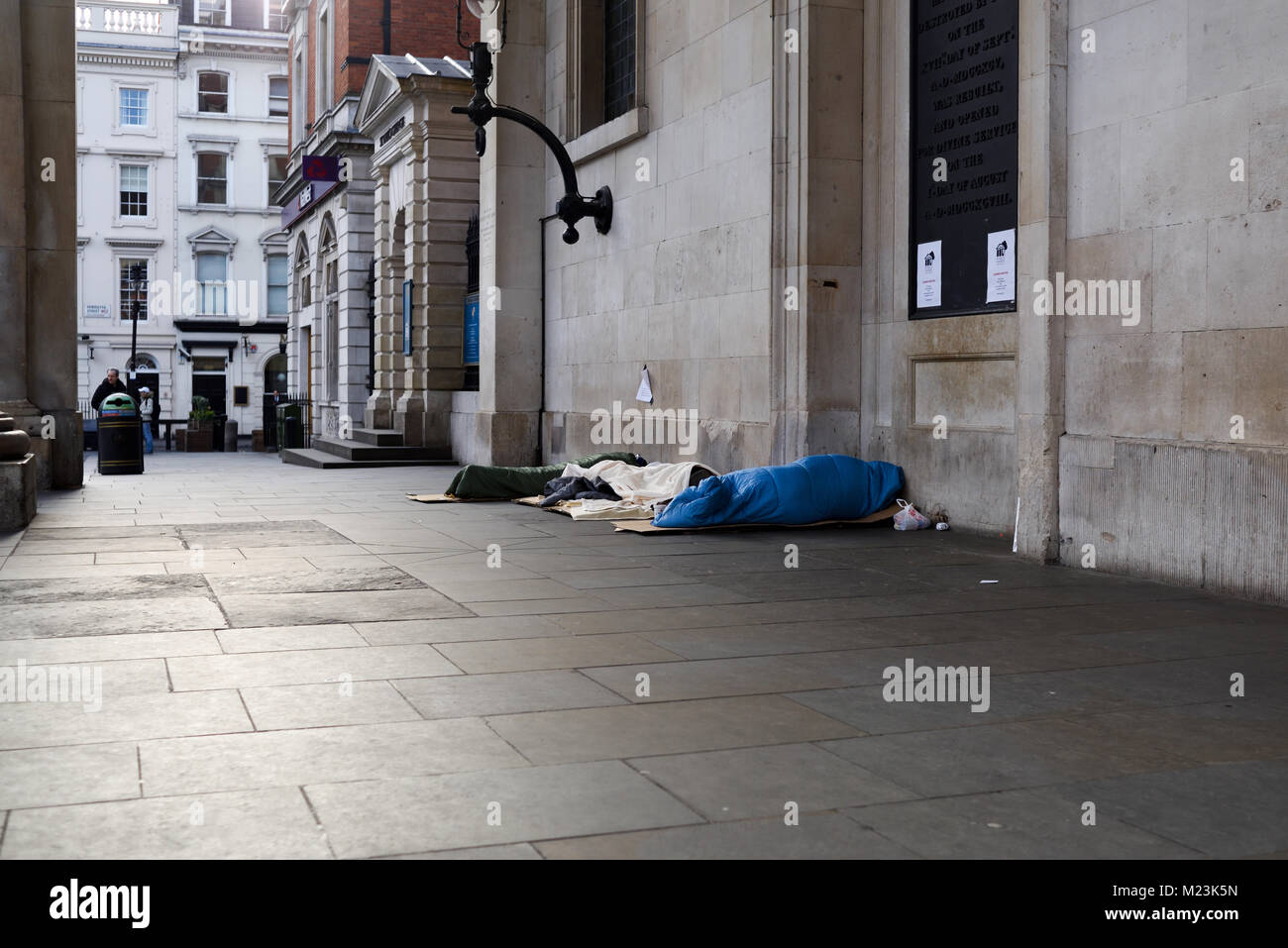 Homeless Sleeping Rough London,UK. - Stock Image