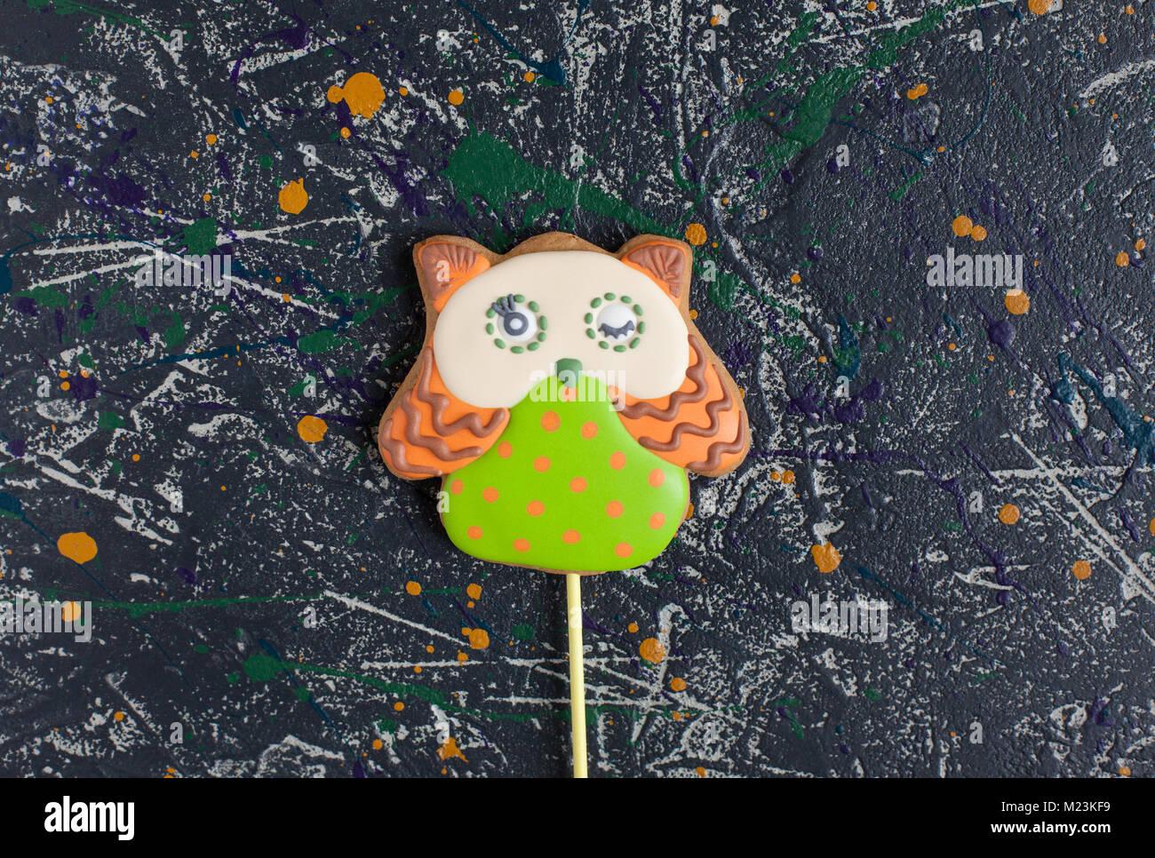 Cute Funny Owl Love Heart Stock Photos & Cute Funny Owl Love