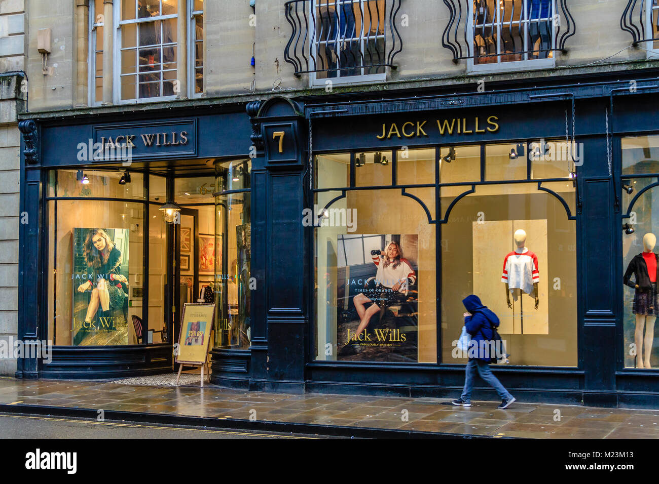 Shop frontage of Jack Wills clothing shop, Oxford. Feb 2018. - Stock Image
