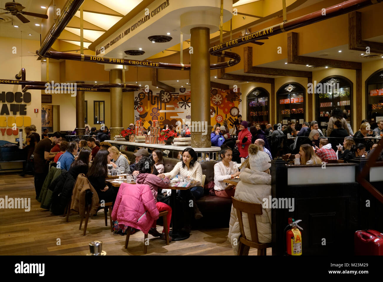 Interior View Of Max Brenner Chocolate Bar And Restaurant On