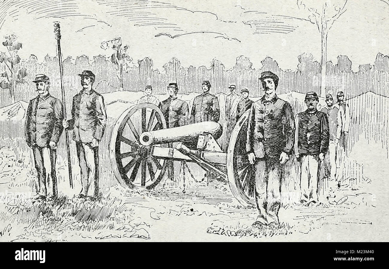 Artilleryman on the Braddock side - Homestead Strike - Stock Image