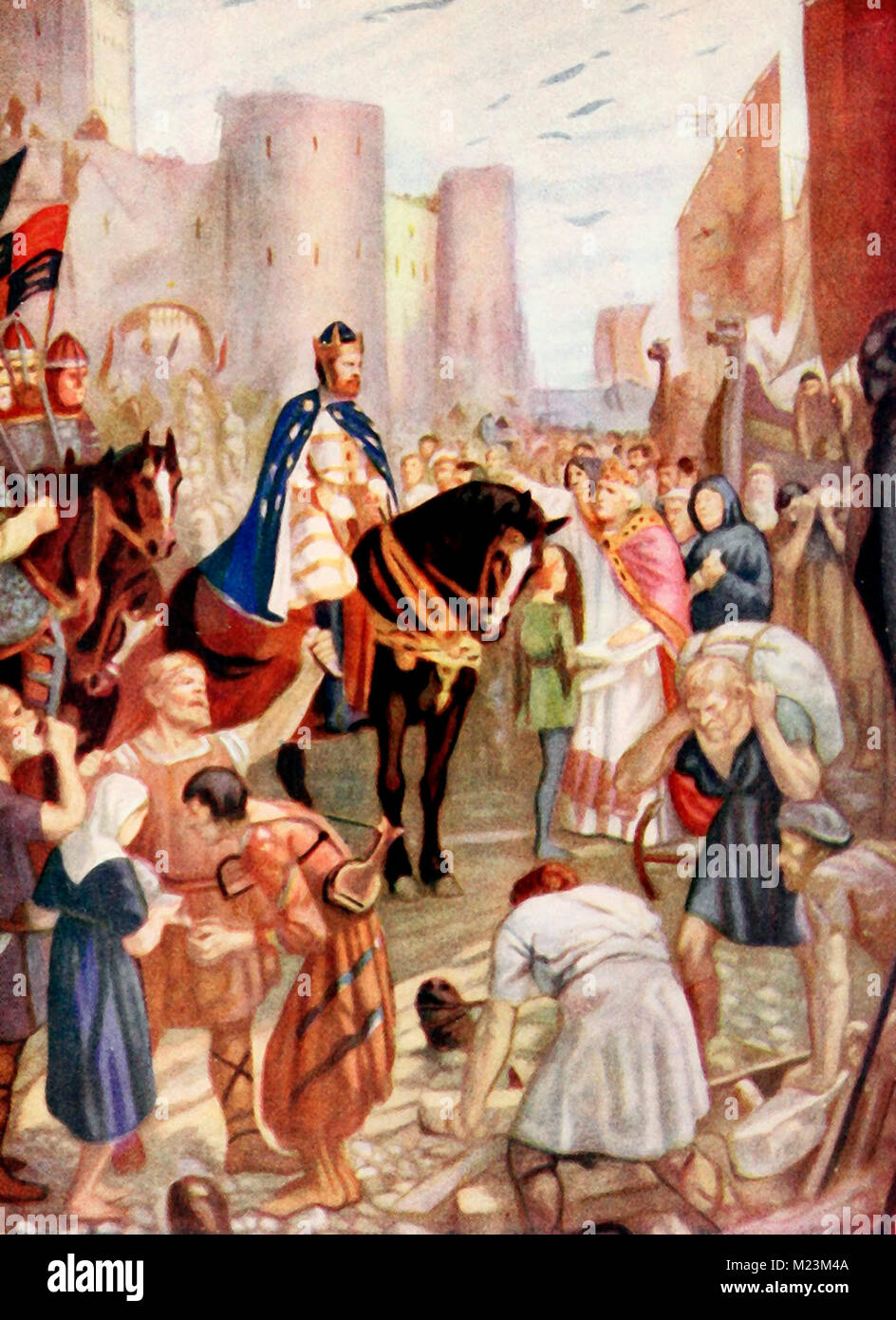 William granting a Charter to the City of London - Stock Image