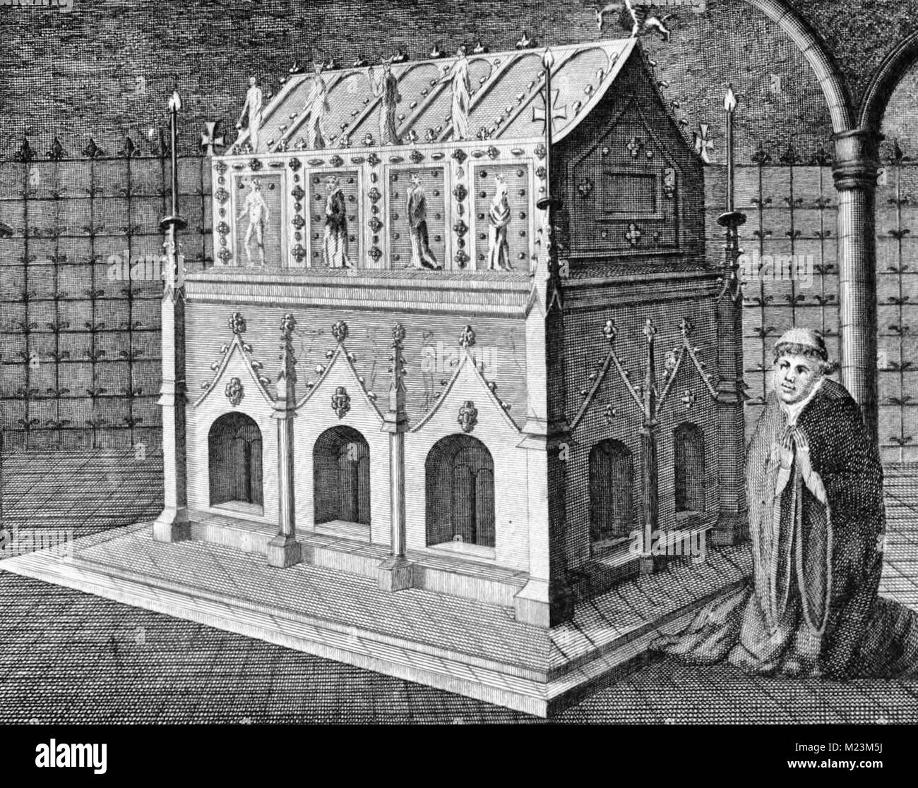 Edmund the Martyr's shrine at the Abbey at Bury St Edmunds - Stock Image