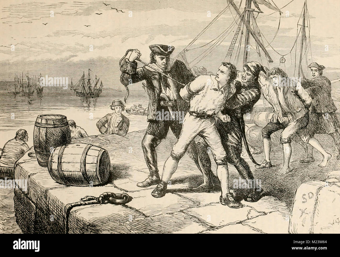 Impressment of Bostonians by Knowles - Stock Image