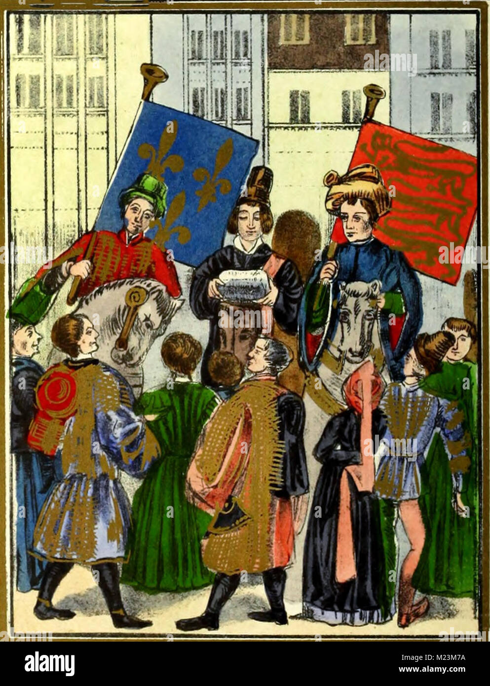 Proclamation of the renewal of the truce between the Kings of France and England after the king of France's - Stock Image