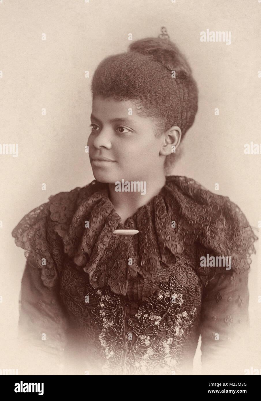 Ida B. Wells - African-American journalist, newspaper editor, suffragist, sociologist, feminist. 1893 Stock Photo