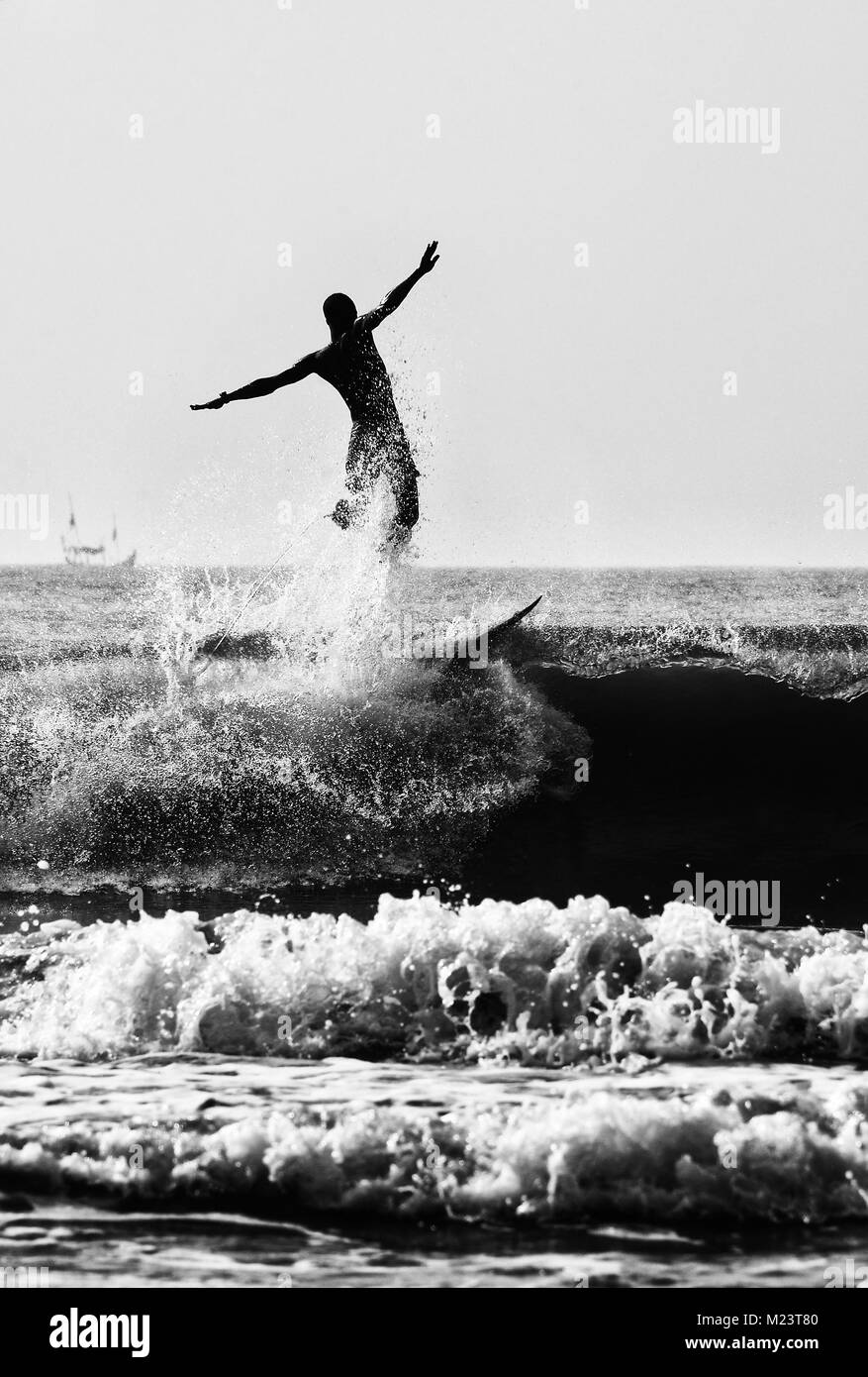 Surfer in Ghana - Stock Image