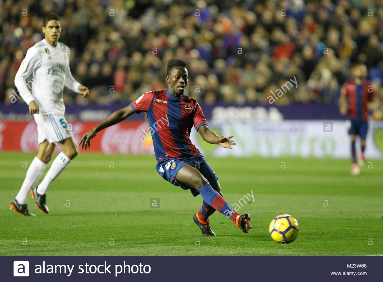 Levante's Emmanuel Boateng fron Ghana during a La Liga match - Stock Image