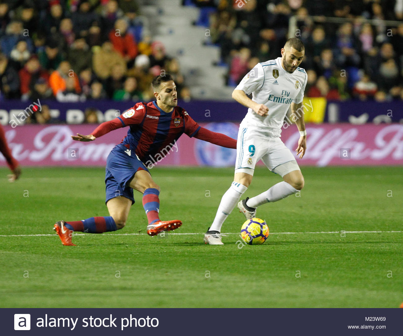 Real Madrid's french Karim benzema during a La Liga match versus Levante ud - Stock Image