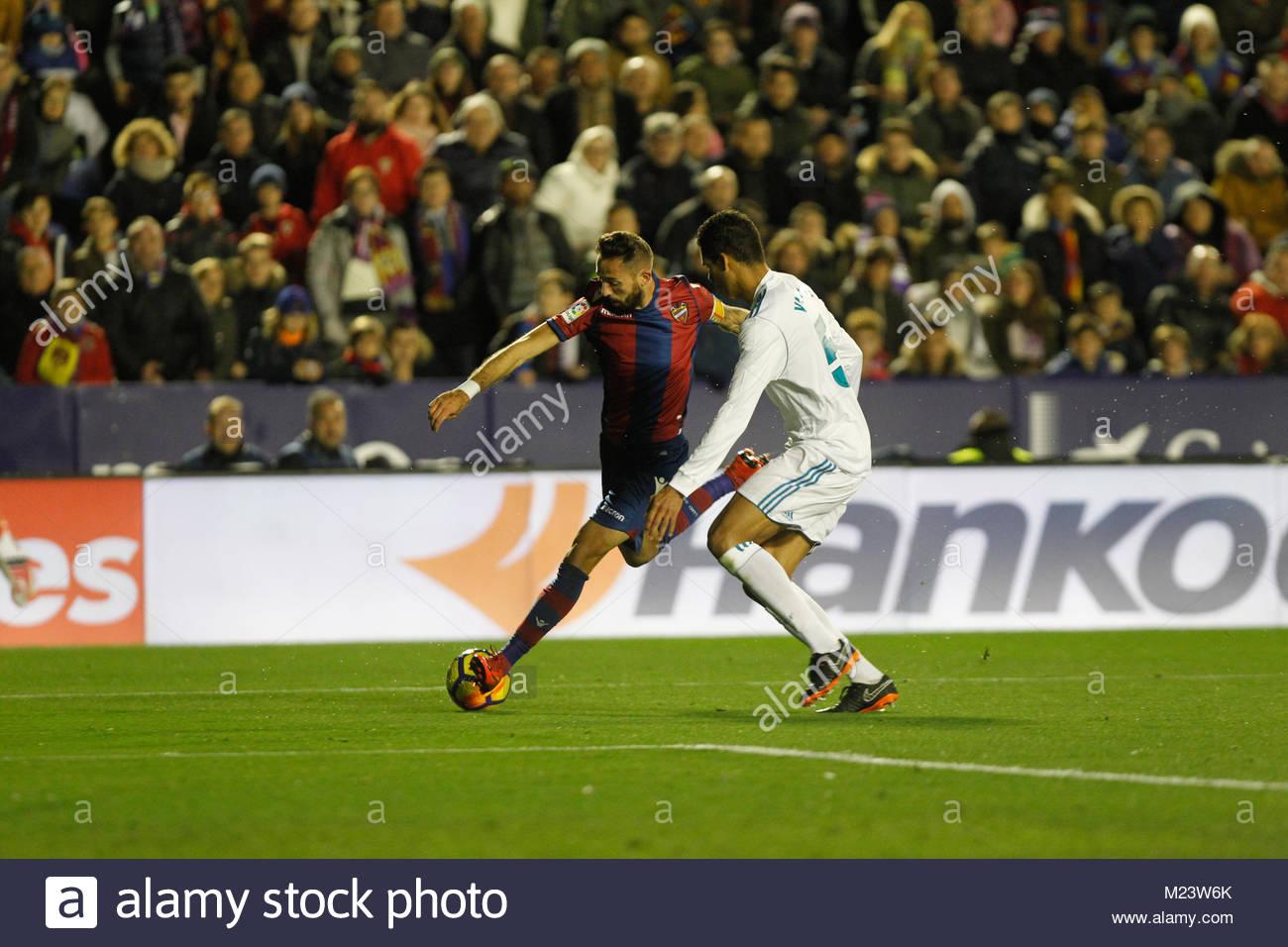 Levante's Morales during a La Liga match al Estadio Ciudad de Valencia - Stock Image