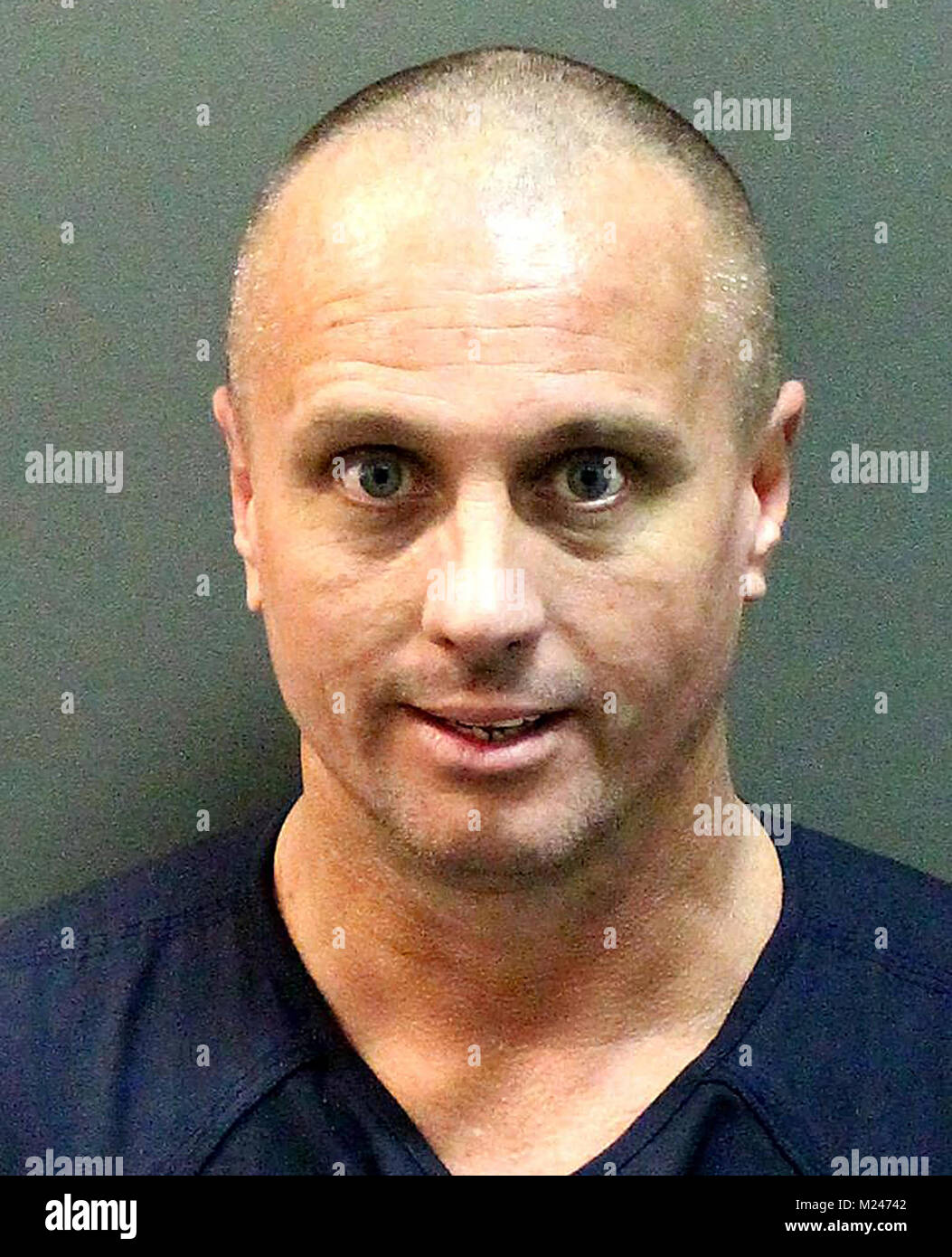 February 2, 2018 - Orlando, Florida, United States -  Michael Shawn Hunt, 43, of Riverview, Florida, shown in this - Stock Image