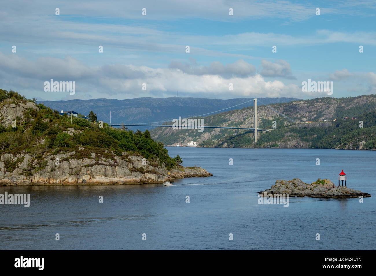 Askoy Bridge Bergen Norway - Stock Image