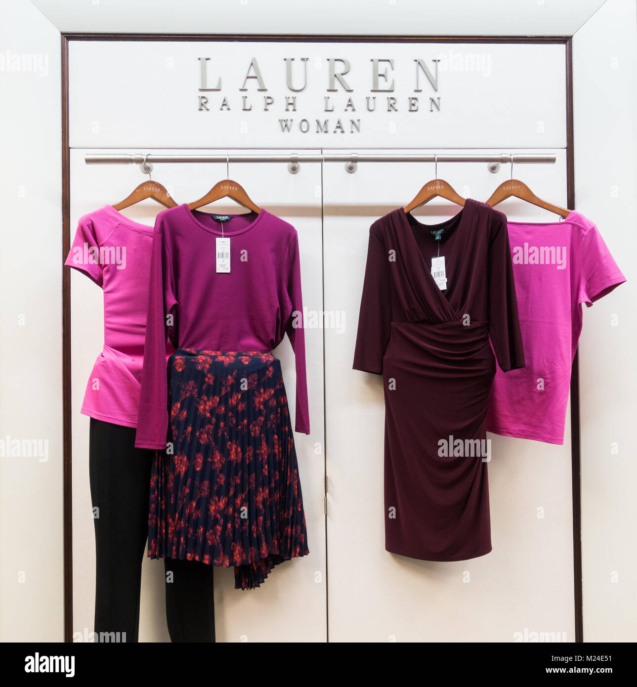 Ralph Lauren woman clothing in large department store in Spain - Stock Image