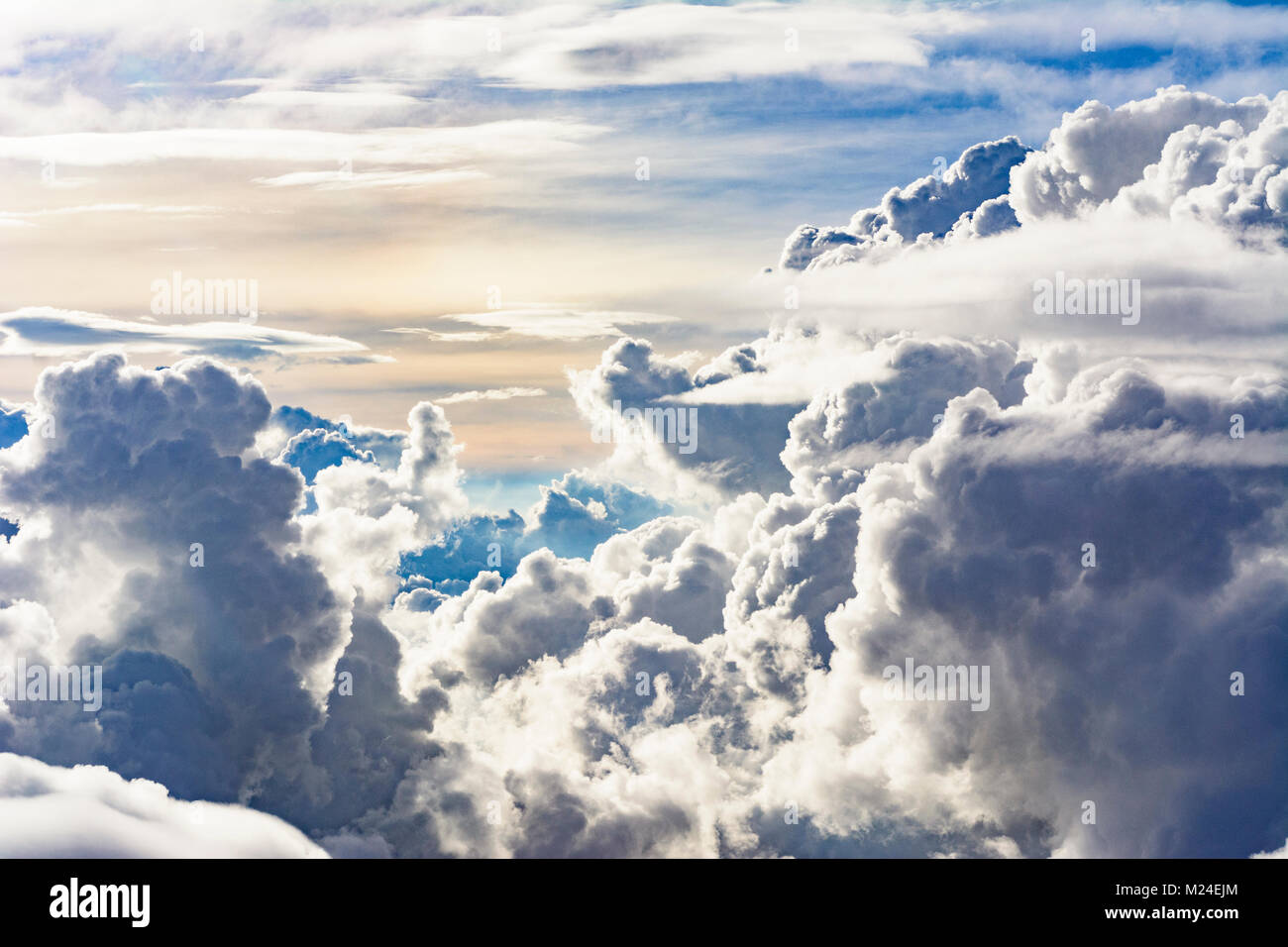 : tropical clouds, cumulonimbus cloud, from aircraft, , , - Stock Image