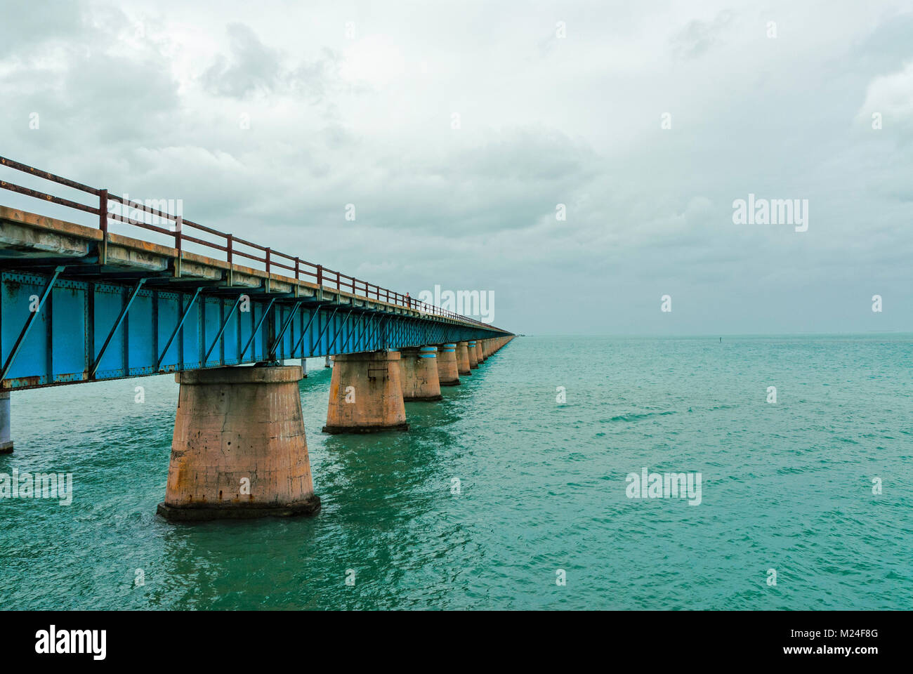 One of he bridges spanning the gulf of Mexico between the Florida Keys - Stock Image