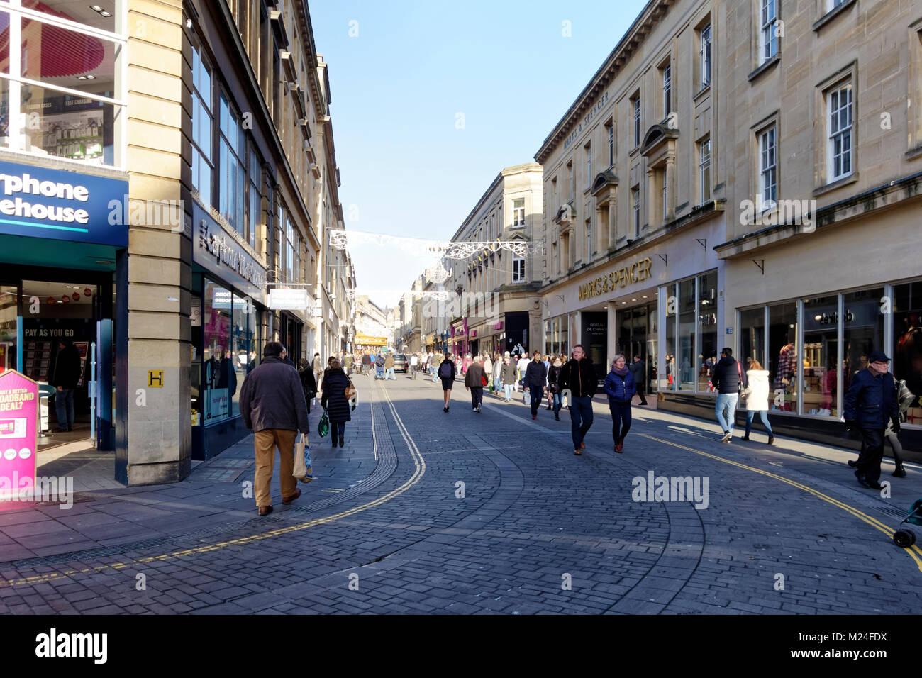 Stall Street, Bath, Somerset, England, United Kingdom, Christmas ...