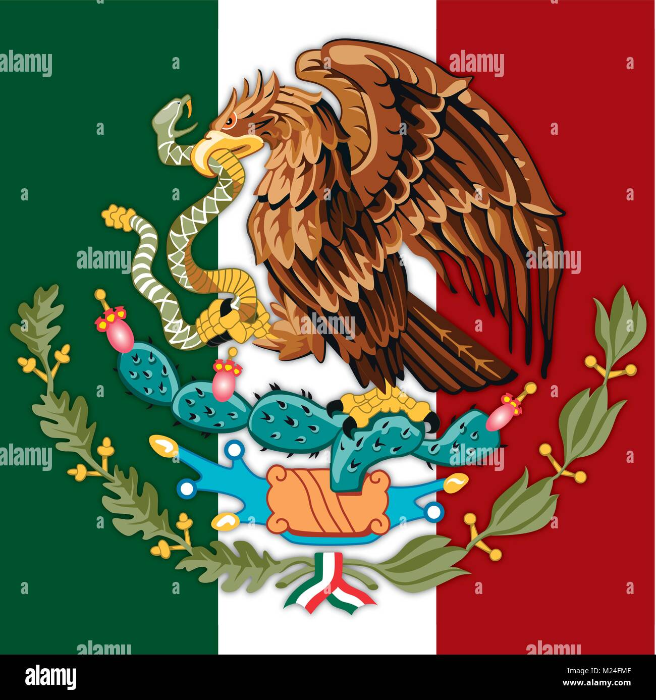 Mexican Official Flag Stock Photos Mexican Official Flag Stock