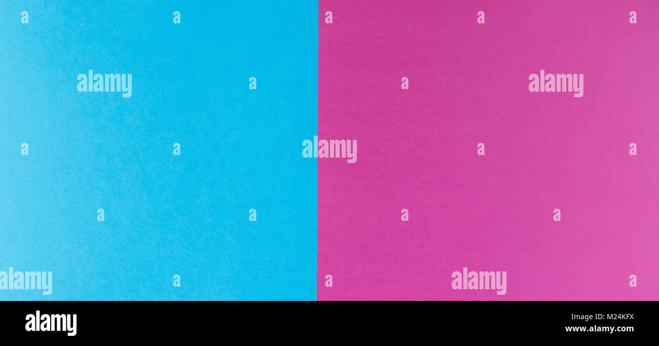 Two tone of blue and purple paper background - Stock Image
