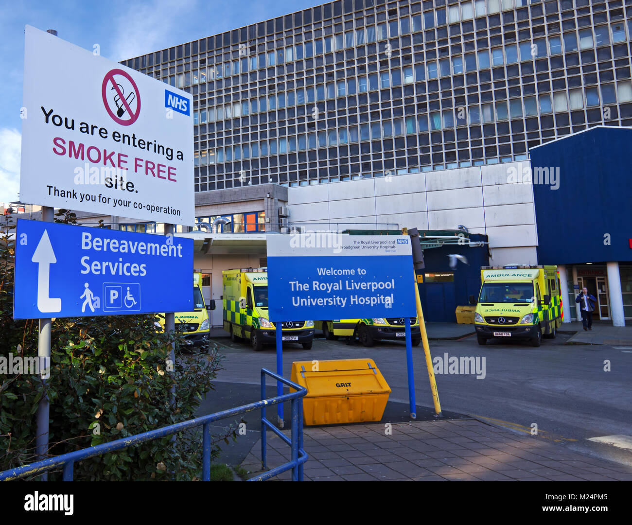 The Royal Liverpool University Hospital is a major teaching and research hospital located in the city of Liverpool, - Stock Image
