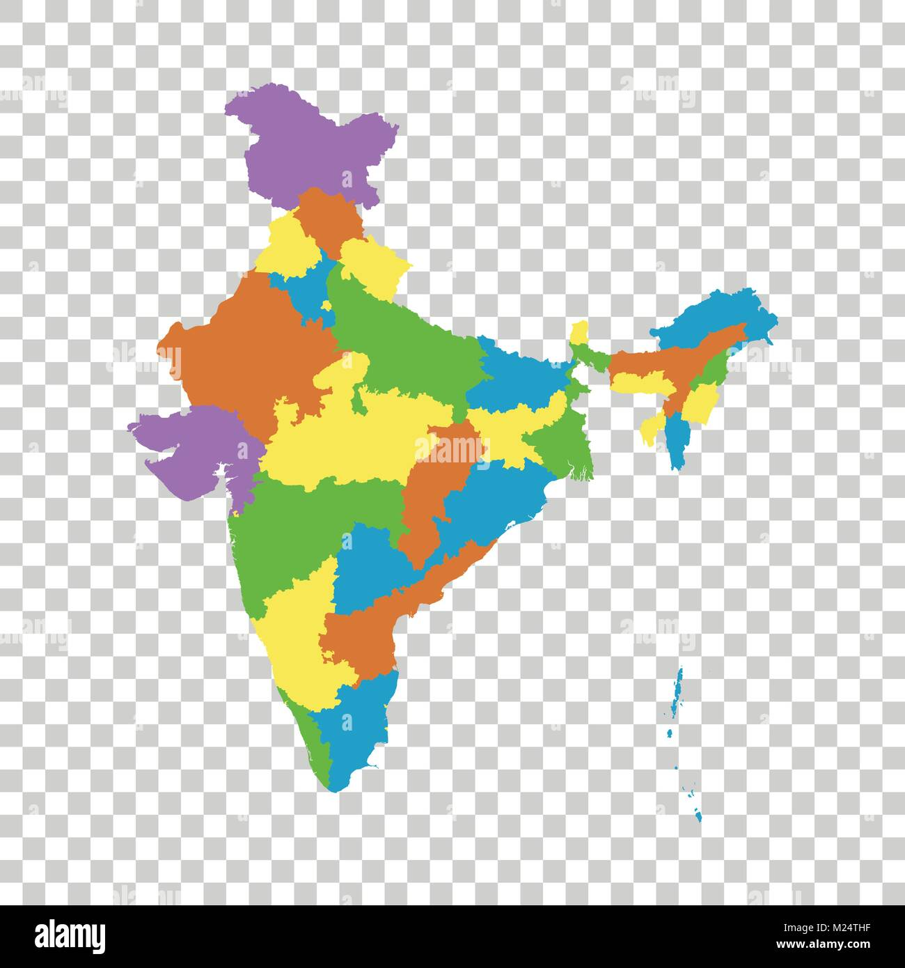 India Map Stock Vector Images Alamy
