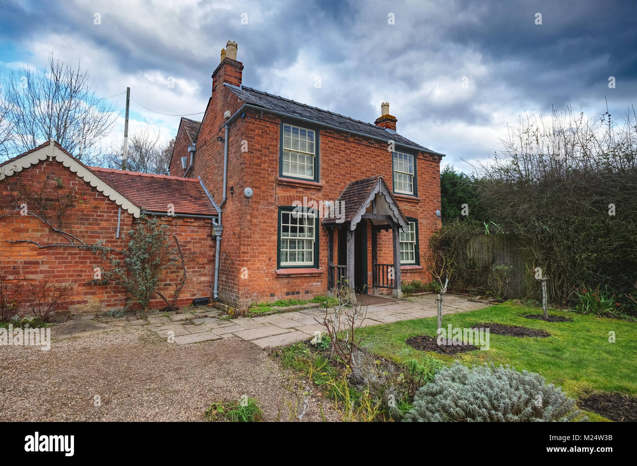 'The Firs' cottage in Malvern, Worcs - birthplace of composer Edward Elgar - Stock Image