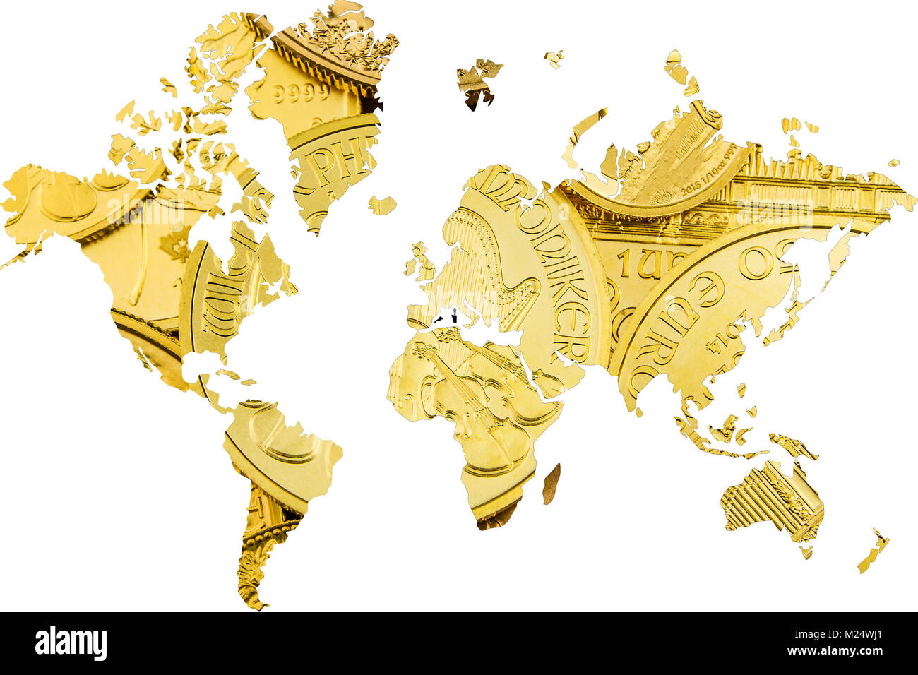gold as renew opportunity worldwide rising - Stock Image