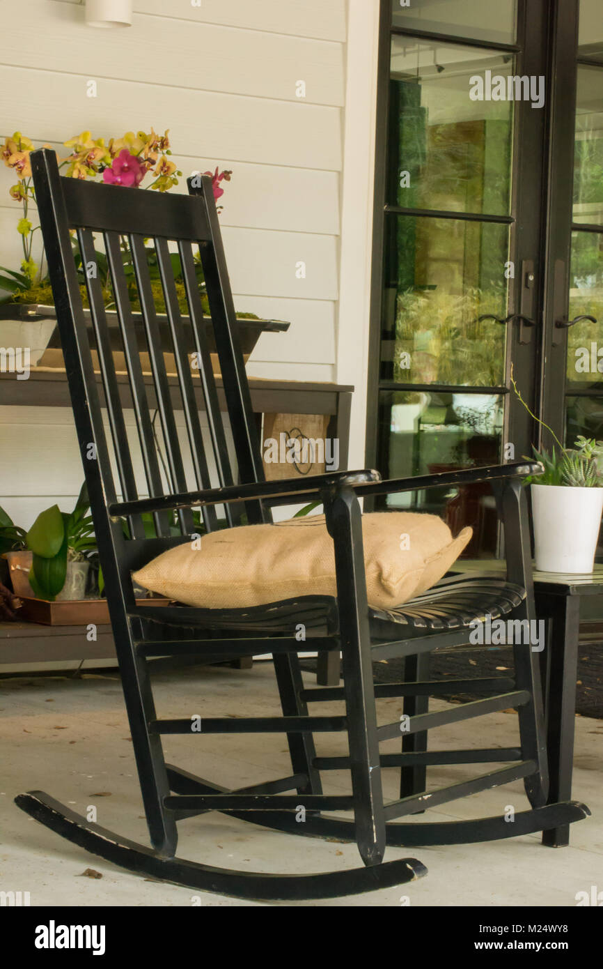 Excellent Rocking Chair Southern Country Summer Porch Stock Photo Gmtry Best Dining Table And Chair Ideas Images Gmtryco