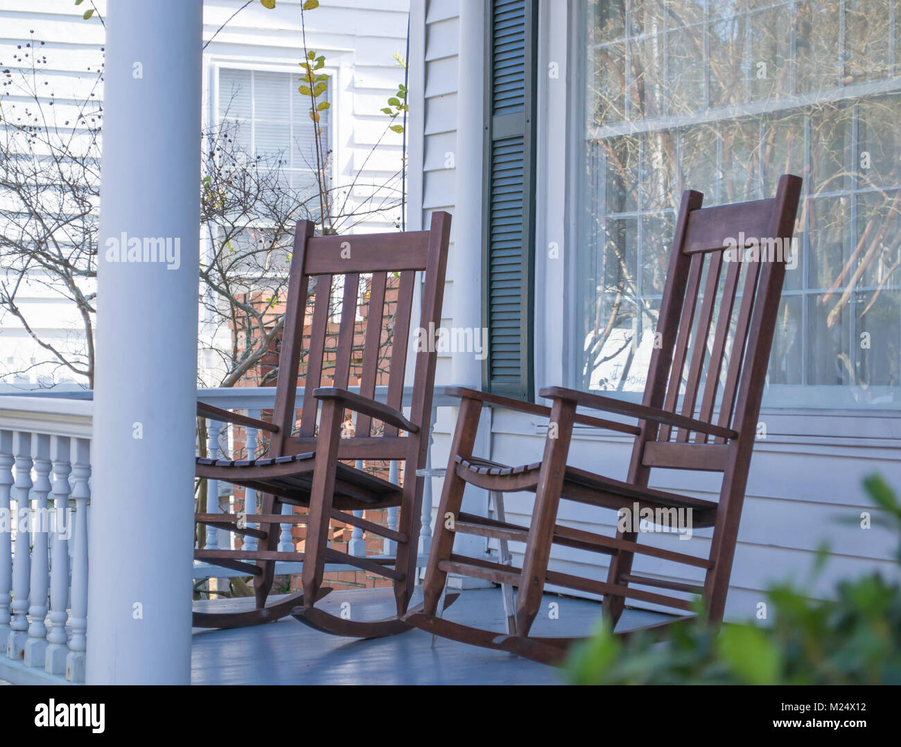 Remarkable Veranda Rocking Chairs Stock Photos Veranda Rocking Chairs Gmtry Best Dining Table And Chair Ideas Images Gmtryco