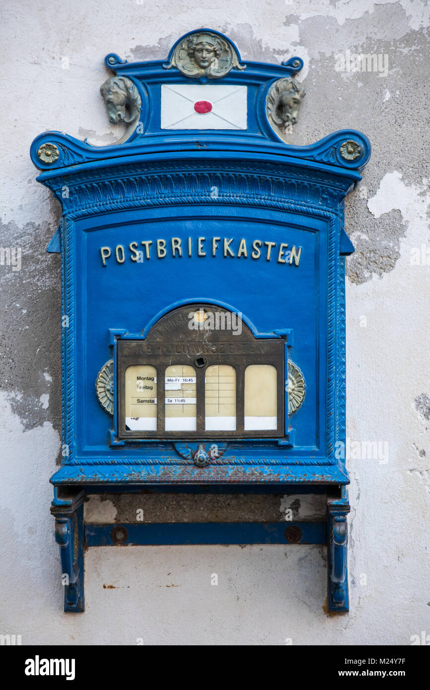 historical postbox, Germany Stock Photo