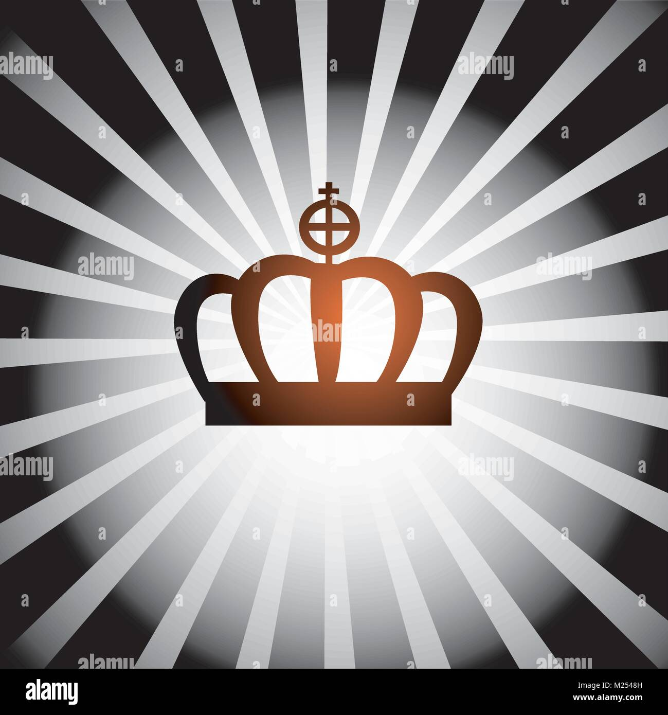 illustration of a crown - Stock Vector