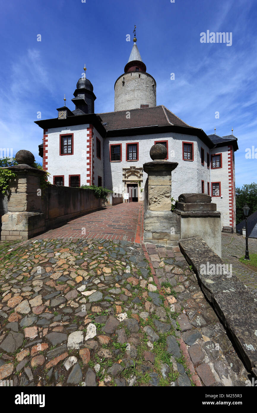 the castle of Posterstein, near city of Posterstein at the Landkreis Altenburger Land in Thuringia, Germany - Stock Image