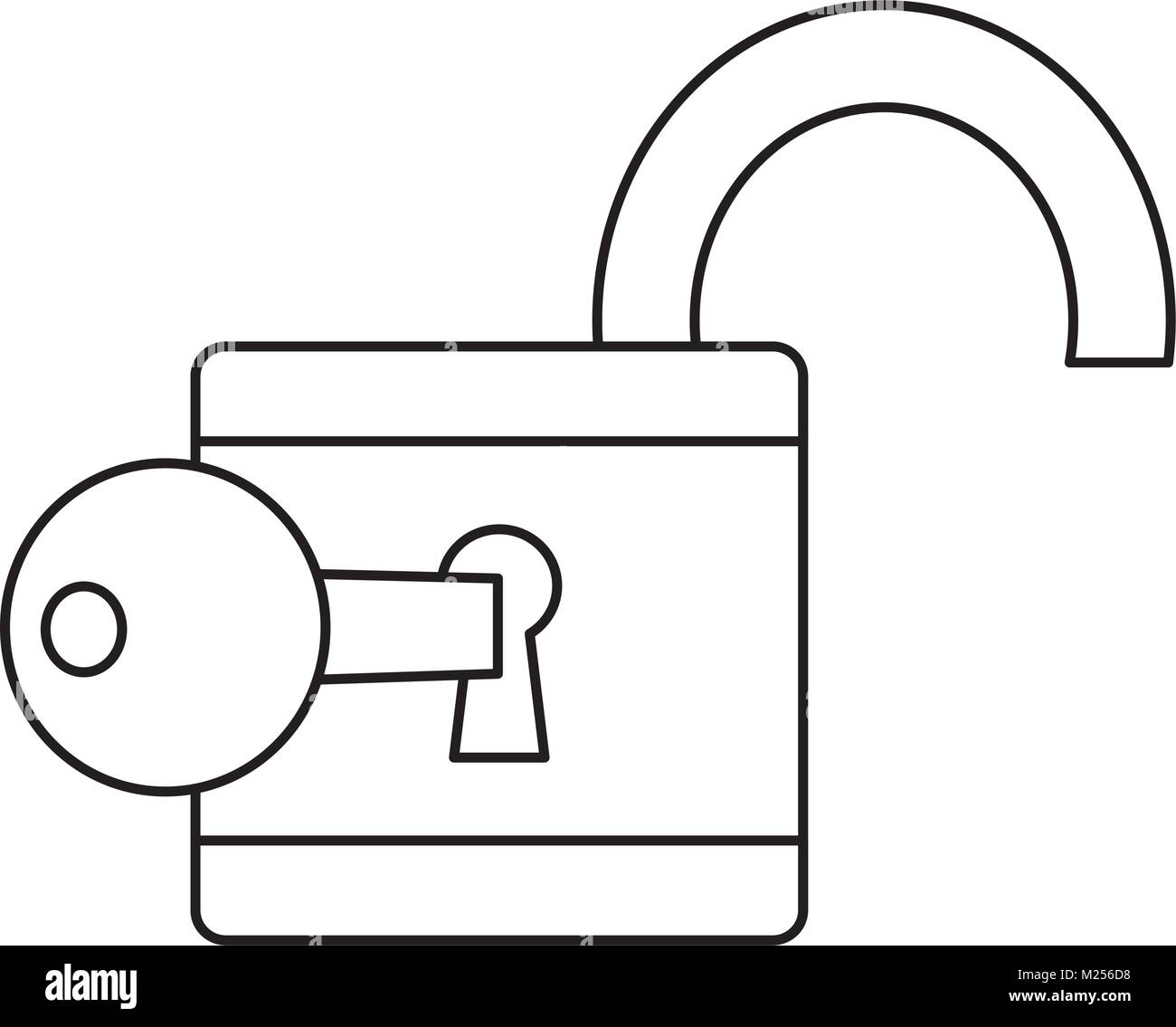 safety lock icon image  Stock Vector