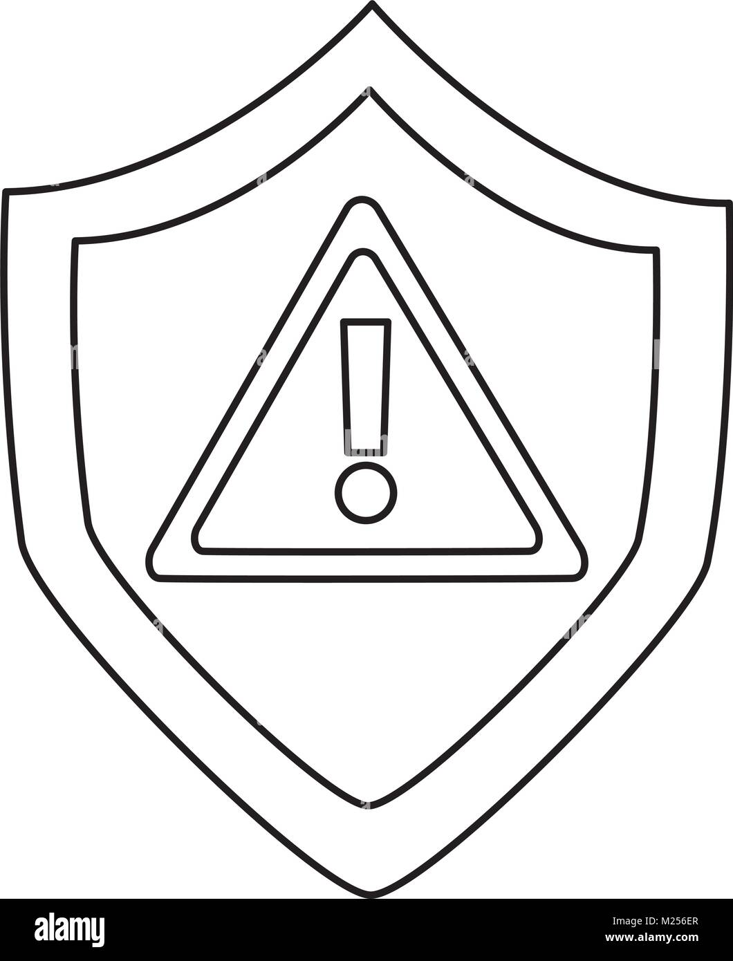 antivirus shield icon image  - Stock Image