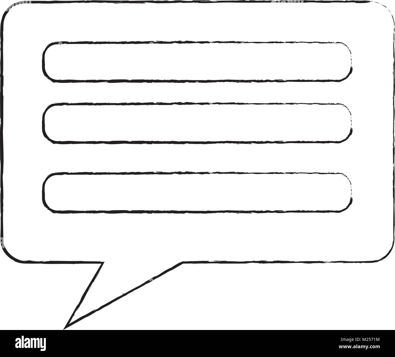 speech bubble communication chat sms - Stock Image