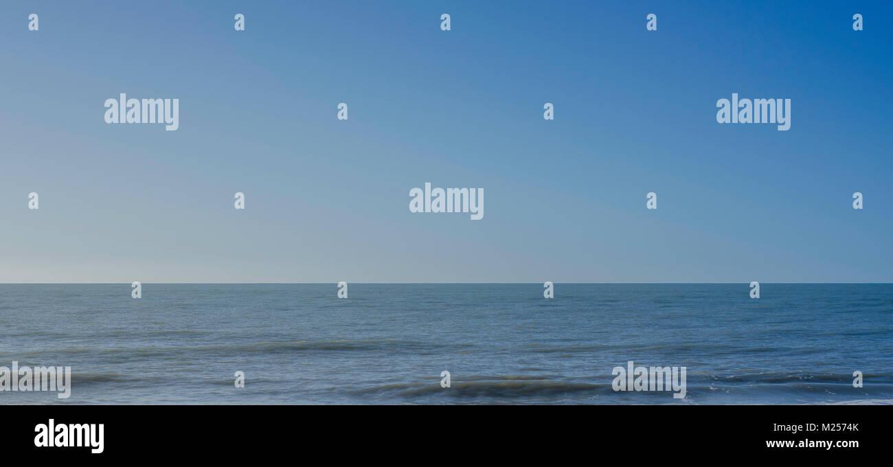 tranquil calming ocean scene Stock Photo