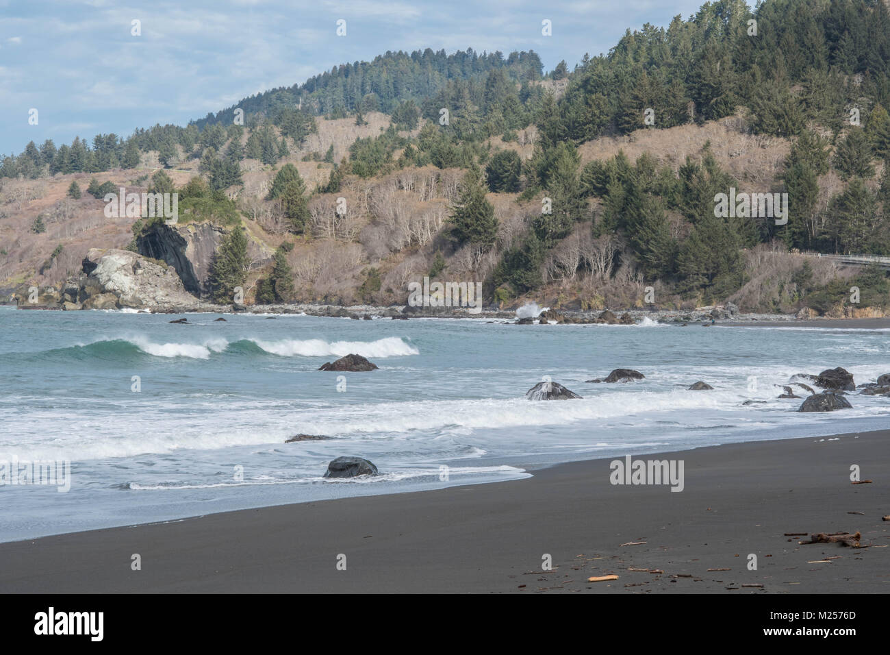 tranquil calming ocean scene - Stock Image